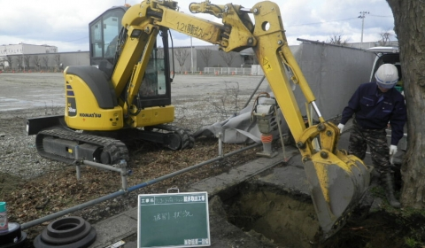 リンコーコーポレーション東港新倉庫建築工事に伴う給水引込・衛生設備工事